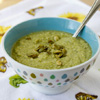 Post image for Cauliflower, Broccoli, Pea and Cashew Soup