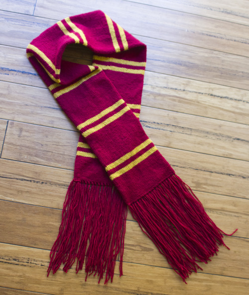 Harry Potter Scarf Knitting Pattern : harry potter knit scarf