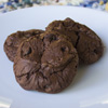 Thumbnail image for Triple Chocolate Fudge Cookies